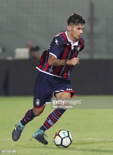 Giovanni Crociata of Crotone during the PreSeason Friendly match between FC Crotone and Cagliari Calcio at Stadio Comunale Ezio Scida on August 5...
