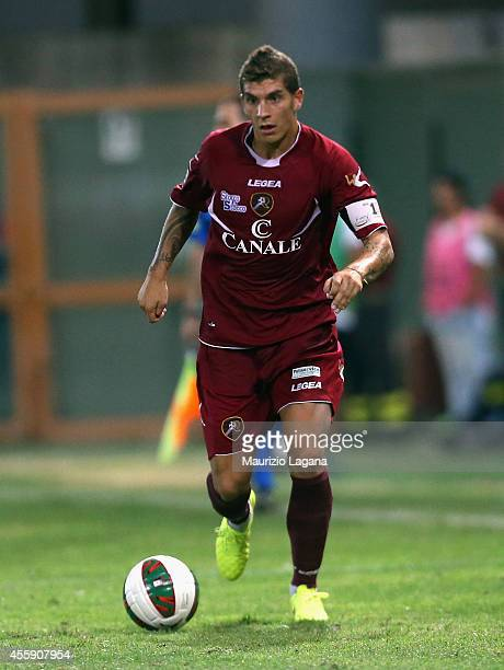 Giovanni Di Lorenzo of Reggina during the Lega Pro match between Reggina Calcio and ACR Messina at Stadio Oreste Granillo on September 12 2014 in...