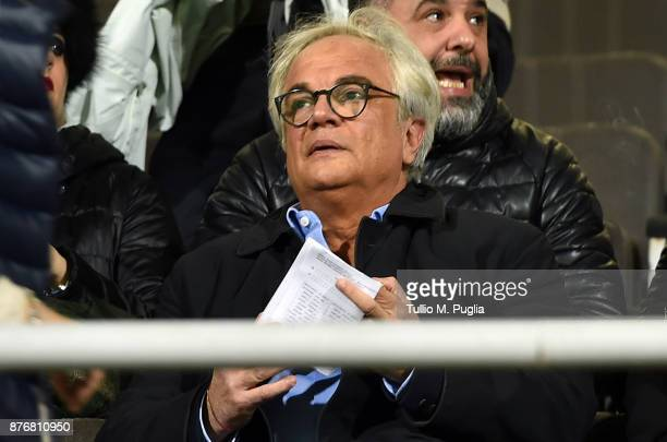 Giovanni Gammarva President of Palermolooks on in the VIP standing during the Serie B match between US Citta' di Palermo and Cittadella at Stadio...