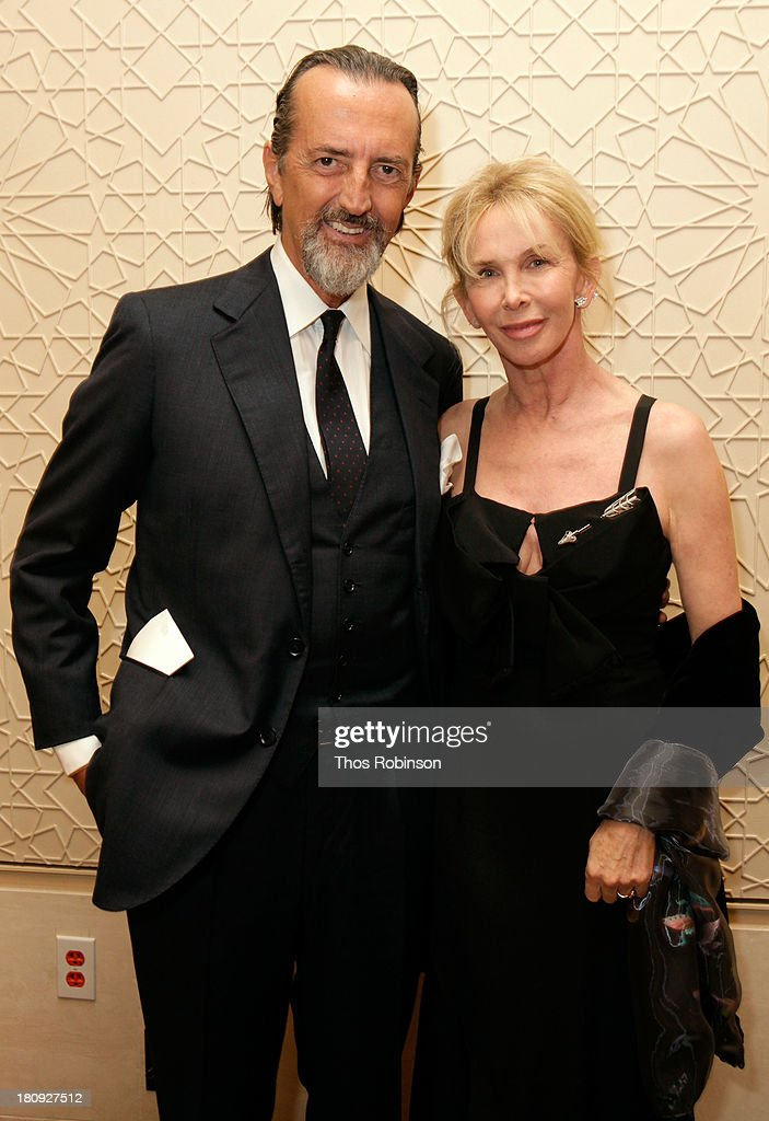 Giovanni Gastel, Photographer and author of 'La nobilita' del Fare' Acqua di Parma book and actress/producer <a gi-track='captionPersonalityLinkClicked' href=/galleries/search?phrase=Trudie+Styler&family=editorial&specificpeople=203268 ng-click='$event.stopPropagation()'>Trudie Styler</a> attend Acqua di Parma gala event: Roberto Bolle and Friends tribute to La nobilita' del Fare Giovanni Gastel photo exhibition, as part of 2013 year of Italian Culture in The US on September 17, 2013 in New York City.