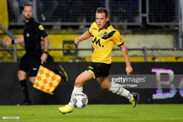 Giovanni Korte of NAC Breda during the Dutch Eredivisie match between NAC Breda v PEC Zwolle at the Rat Verlegh Stadium on October 21 2017 in Breda...