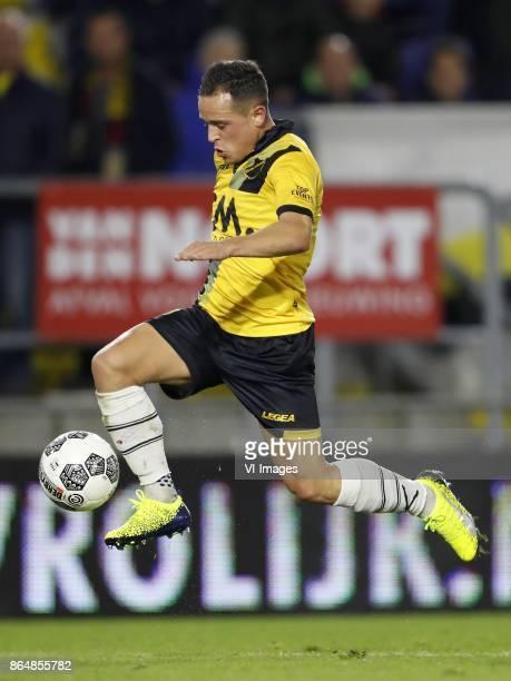 Giovanni Korte of NAC Breda during the Dutch Eredivisie match between NAC Breda and PEC Zwolle at the Rat Verlegh stadium on October 21 2017 in Breda...