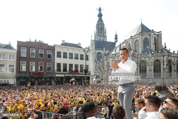 Giovanni Korte of NAC Bredaduring NAC Breda honored at the Grote Markt on May 28 2017 in Breda The Netherlands