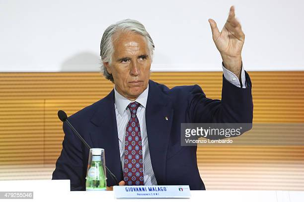 Giovanni Malagò attends the CONI convention at Expo 2015 on July 2 2015 in Milan Italy