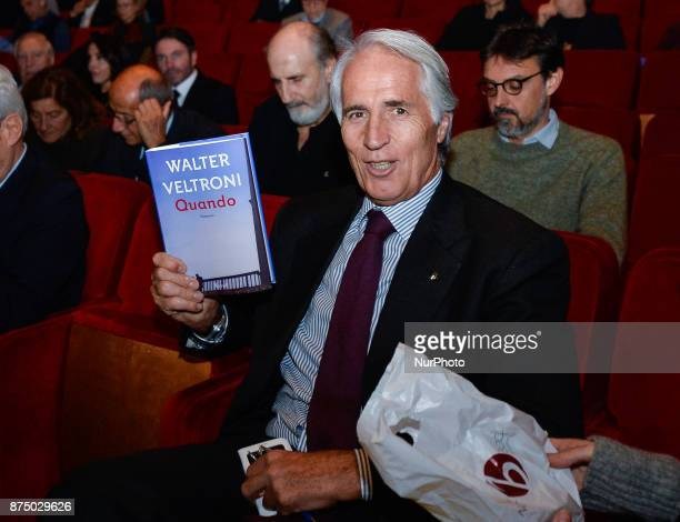 Giovanni Malagò during presentation of the book 'Quando' by Walter Veltroni at Auditorium Rome on november 16 2017