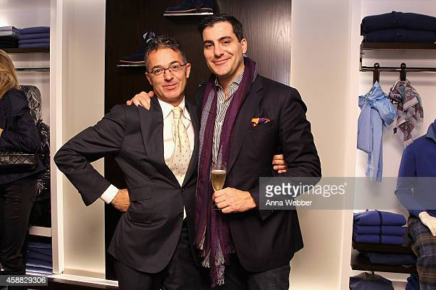 Giovanni Moroni and Justin Argenti attend DuJour magazine's premier opening event Tincati Milano Concept Store on November 11 2014 in New York City