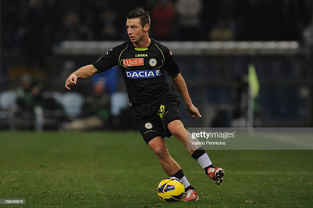 Giovanni Pasquale of Udinese Calcio in action during the Serie A match between UC Sampdoria and Udinese Calcio at Stadio Luigi Ferraris on December 10, 2012 in Genoa, Italy.