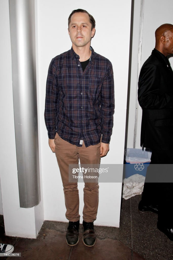 <a gi-track='captionPersonalityLinkClicked' href=/galleries/search?phrase=Giovanni+Ribisi&family=editorial&specificpeople=540443 ng-click='$event.stopPropagation()'>Giovanni Ribisi</a> attends the Mercedes Helnwein 'The Trouble With Dreams' gallery reception at Merry Karnowsky Gallery on October 5, 2013 in Los Angeles, California.