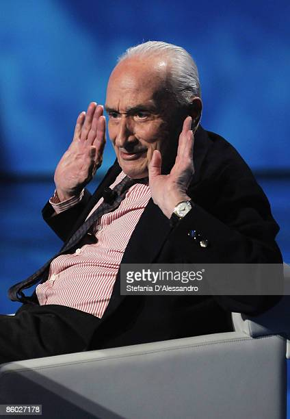 Giovanni Sartori attends 'Che Tempo che Fa' Tv Show on April 18 2009 in Milan Italy