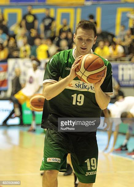 Giovanni Severini during Italy Lega Basket of Serie A match between Fiat Torino v Sidigas Avellino in Turin on january 22 2017