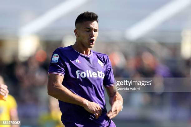 Giovanni Simeone of ACF Fiorentina in action during the Serie A match between ACF Fiorentina and Udinese Calcio at Stadio Artemio Franchi on October...