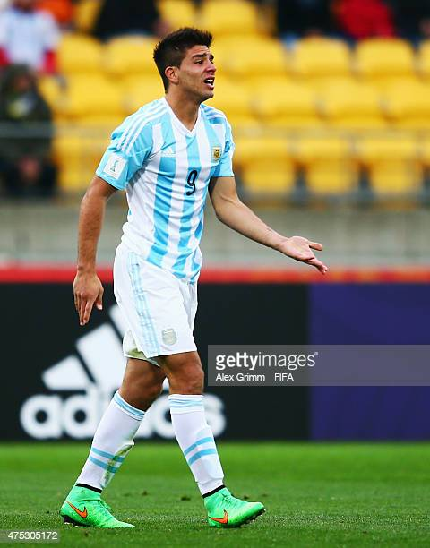 Giovanni Simeone of Argentina reacts during the FIFA U20 World Cup New Zealand 2015 Group B match between Argentina and Panama at Wellington Regional...