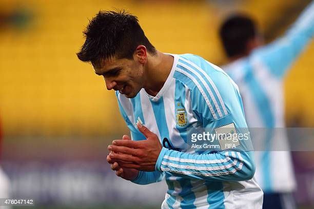 Giovanni Simeone of Argentina reacts during the FIFA U20 World Cup New Zealand 2015 Group B match between Austria and Argentina at Wellington...