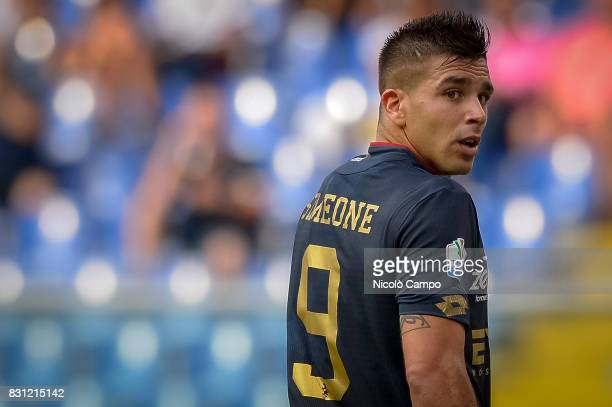 Giovanni Simeone of Genoa CFC looks on during the TIM Cup football match between Genoa CFC and AC Cesena Genoa CFC wins 21 over AC Cesena