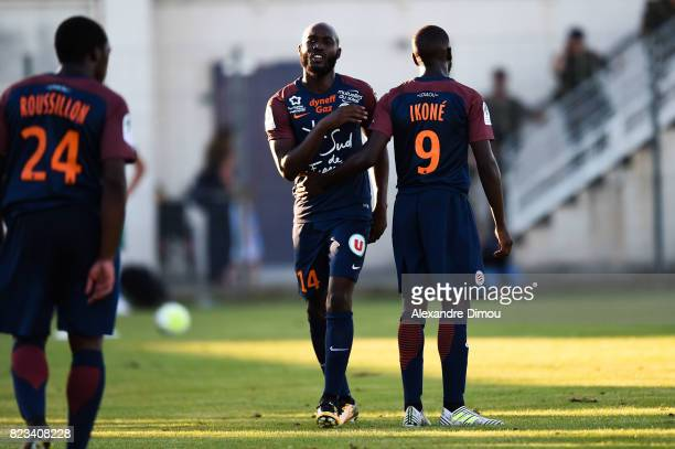 Giovanni Sio and Jonathan Ikone of Montpellier during the Friendly match between Montpellier and Saint Etienne on July 26 2017 in GrauduRoi France