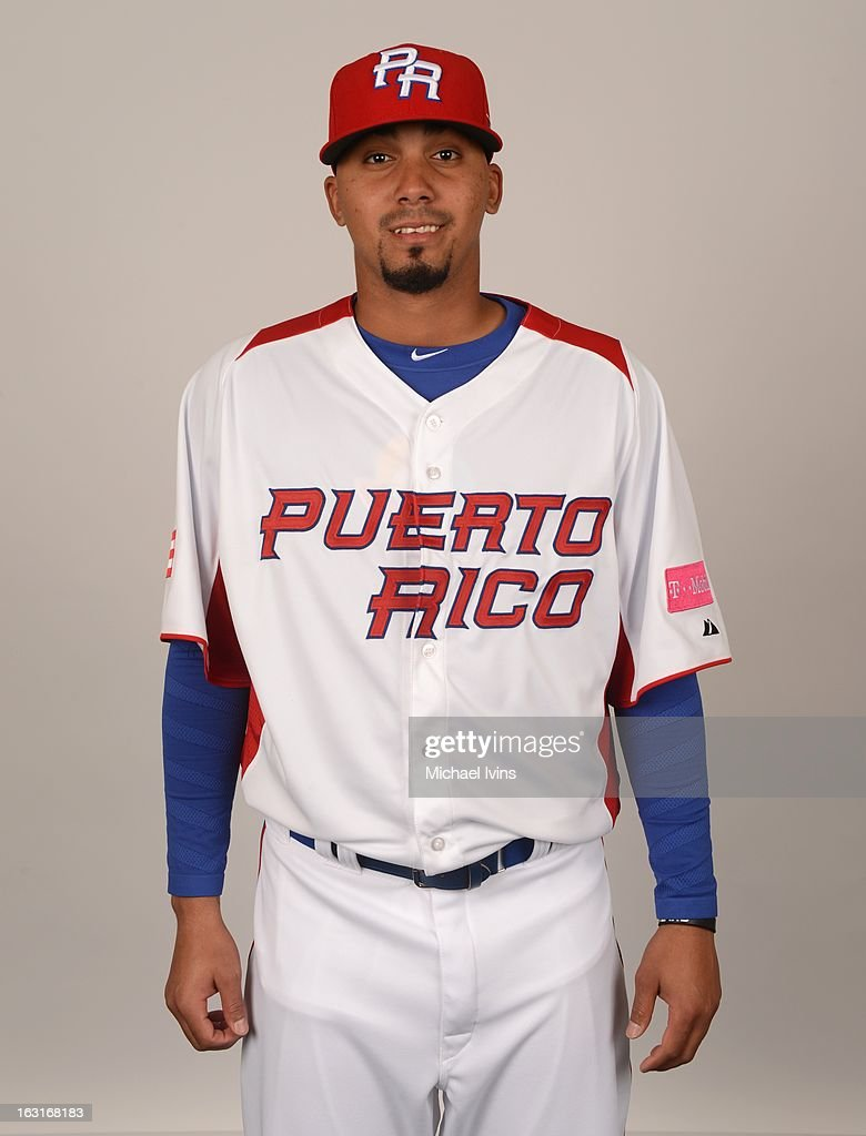 Giovanni Soto #35 of Team Puerto Rico poses for a headshot for the 2013 World Baseball Classic at the City of Palms Baseball Complex on Monday, March 4, 2013 in Fort Myers, Florida.