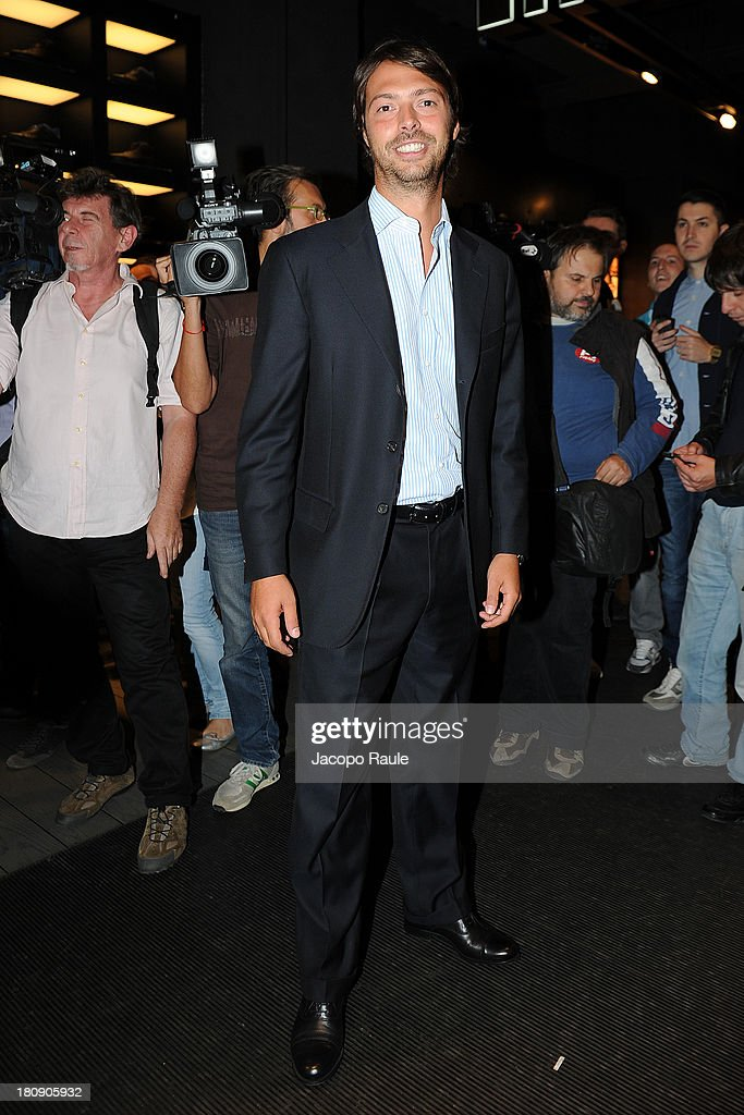 Giovanni Tonchetti Provera is seen at Pirelli PZero Store during The Milan Vogue Fashion Night Out on September 17, 2013 in Milan, Italy.