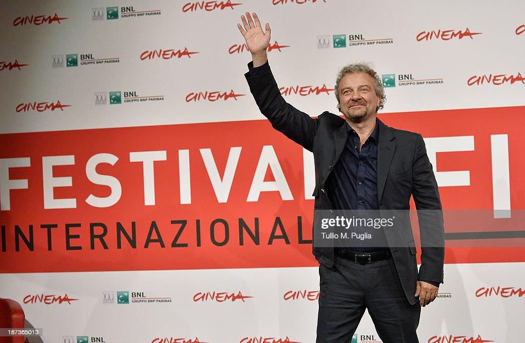 Giovanni Veronesi attends the 'L'Ultima Ruota Del Carro' Photocall during the 8th Rome Film Festival at the Auditorium Parco Della Musica on November...