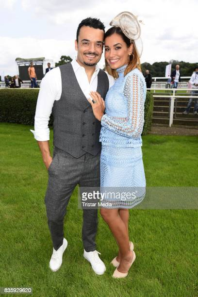Giovanni Zarrella and his wife Jana Ina Zarrella during the Audi Ascot Race Day 2017 on August 20 2017 in Hanover Germany