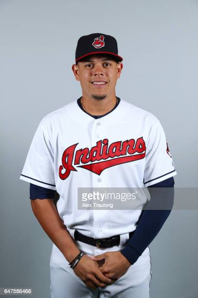 Giovanny Urshela of the Cleveland Indians poses during Photo Day on Friday February 24 2017 at Goodyear Ballpark in Goodyear Arizona