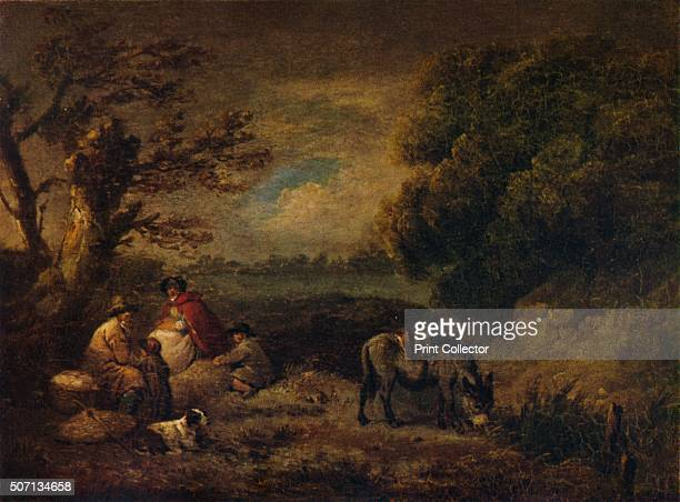 Gipsies resting with Donkey' 1795 From A Catalogue of the Pictures and Drawings in the collection of Frederick John Nettleford Volume III I to S by C...