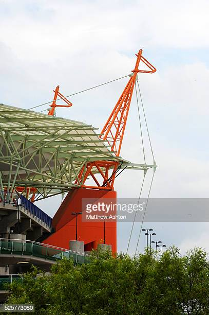 Giraffe structures tower out from the stadium at the Mbombela Stadium in Nelspruit South Africa One of the host venue for the FIFA World Cup 2010...