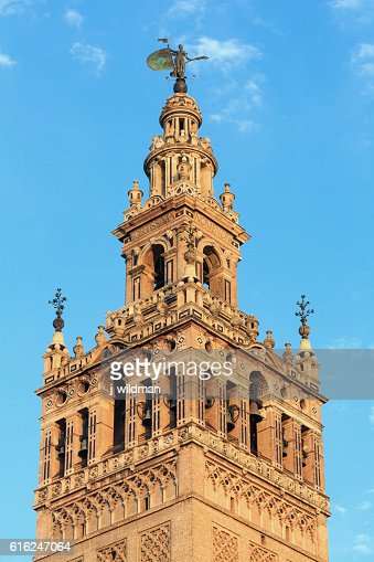 Giralda bell tower, Seville, Spain. : Stock Photo