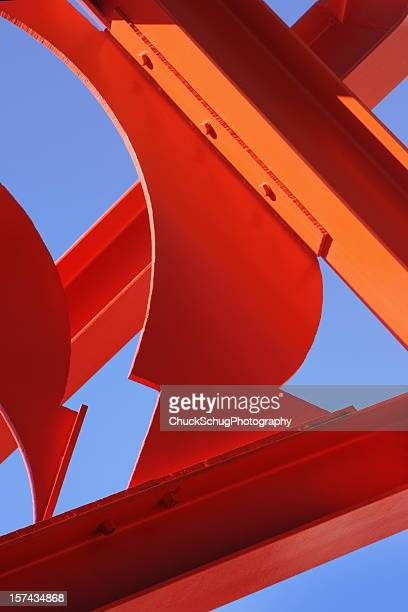 Girder Orange Steel Architectural Abstract
