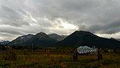Cloudy day in Girdwood Alaska