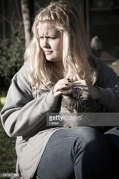 Girl & a Cat....