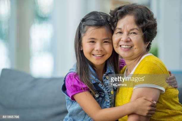 Girl And Grandmother