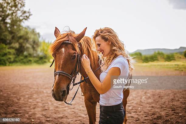 Girl and her pet horse