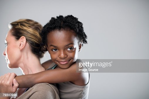 Girl and mother : Stock Photo