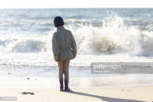 Girl and the ocean