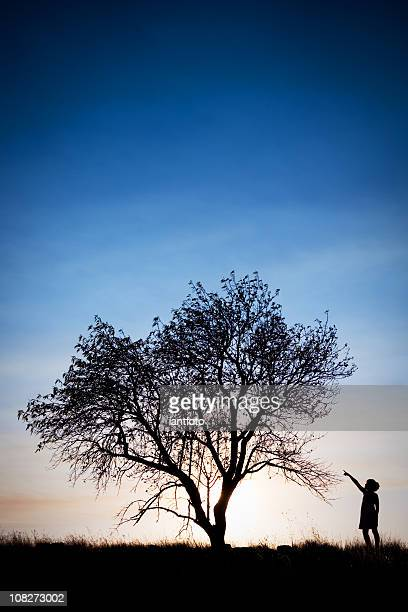 Girl and tree.