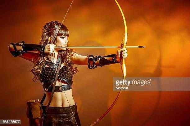 Jeune archer de tir
