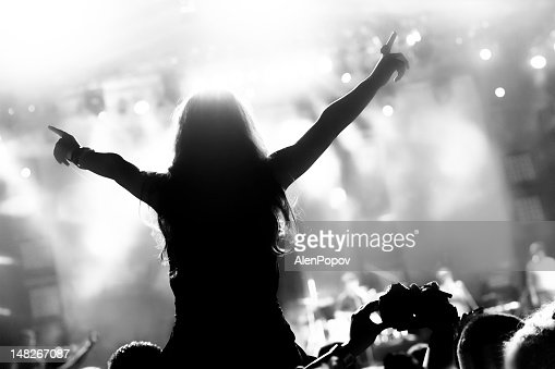 Girl at a concert : Stockfoto