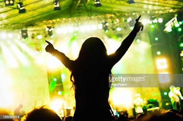 Girl at a concert