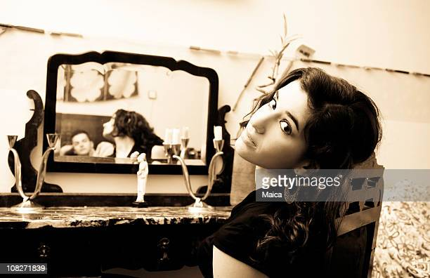 Girl at the dressing table