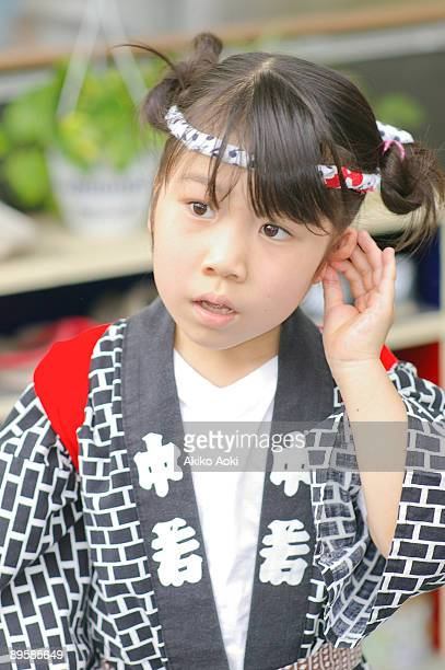 A girl at the Japanese summer festival