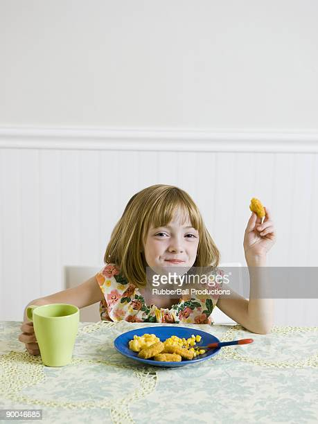 girl at the kithen table