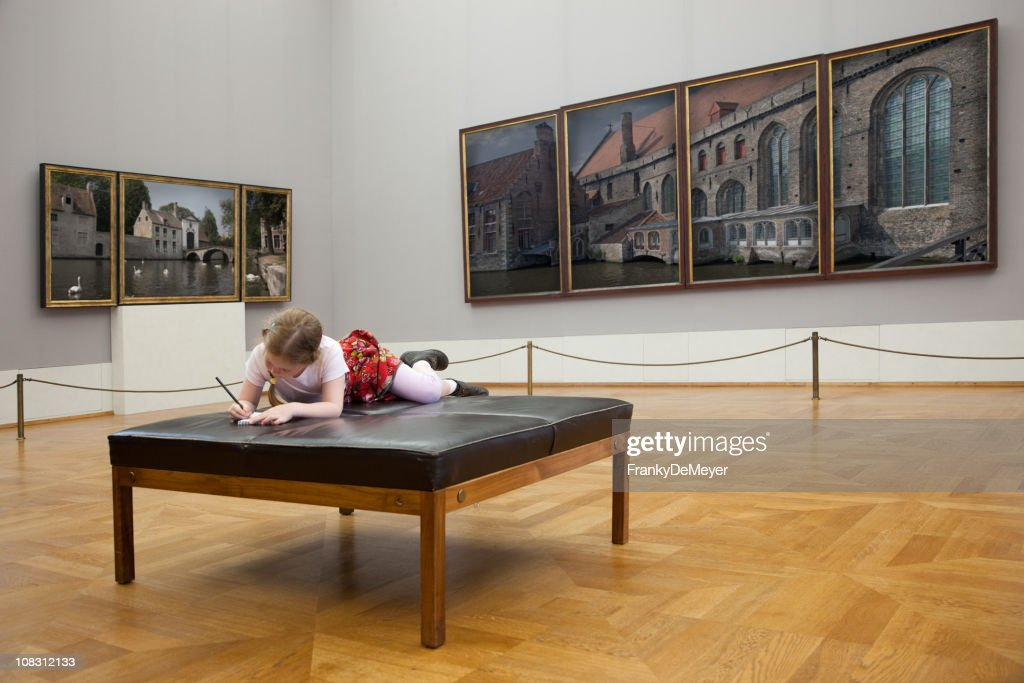 Girl at the museum : Stock Photo