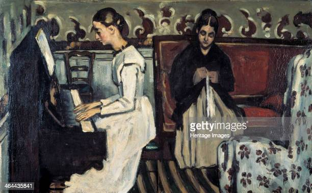'Girl at the Piano ' c1868 Found in the collection of the State Hermitage St Petersburg