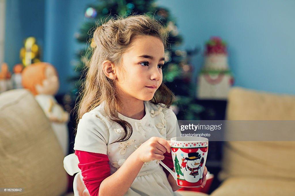 Chica de navidad : Foto de stock