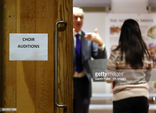 A girl auditions at Canterbury Cathedral Kent for the first girls' choir at the cathedral after more than 900 years of male singing
