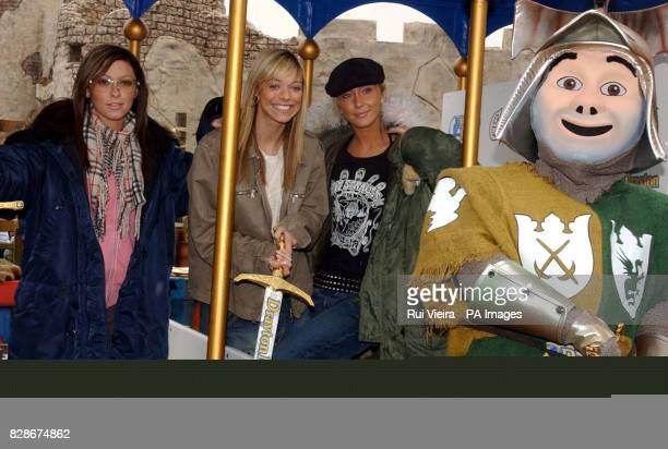 Girl band Atomic Kitten from left to right Natasha Hamilton Liz McClarnon and Jenny Frost are the first to experience the new 25 million family...