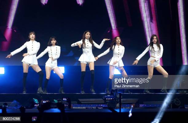 Girl Band GFRIEND perform onstage at KCON 2017 at Prudential Center on June 23 2017 in Newark New Jersey
