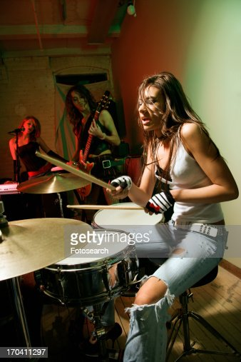 Girl Band Playing Instruments Stock Photo | Getty Images