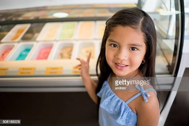 Girl buying an ice cream