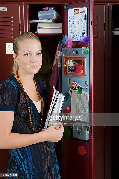Girl by her locker